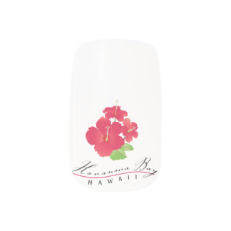 Hawaii Hibiscus Flower Minx Nail Art