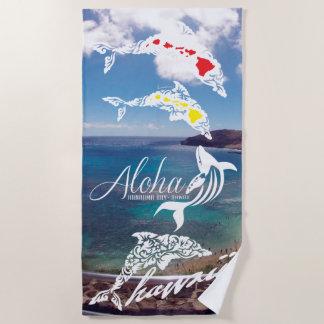 Hawaii Island Dolphins Beach Towel