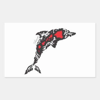 Hawaii Islands ad Dolphin Rectangular Sticker