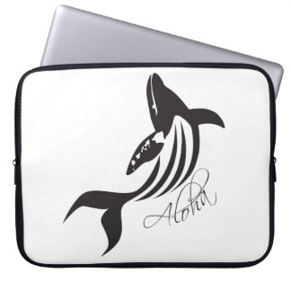 Hawaii Islands and Whale Laptop Sleeve