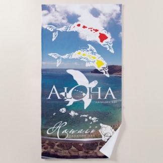 Hawaii Islands Beach Towel