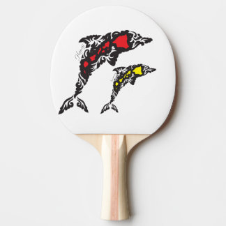 Hawaii Islands dolphins Ping Pong Paddle