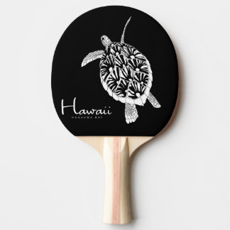 Hawaii Islands Turtle Ping Pong Paddle