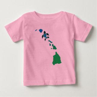 Hawaii Islands with Oahu Turtle Baby T-Shirt