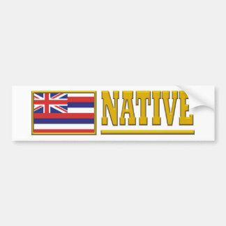 Hawaii Native Bumper Sticker