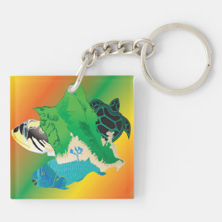 Hawaii Reggae Oahu Island Key Ring