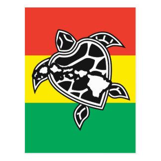 Hawaii Reggae Turtle Postcard