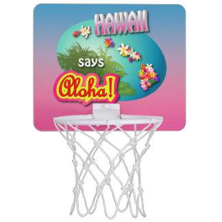 Hawaii Says Aloha! Mini Basketball Hoop