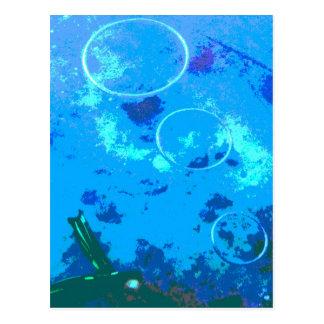 Hawaii scuba diver postcard