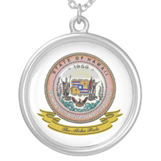 Hawaii Seal Silver Plated Necklace
