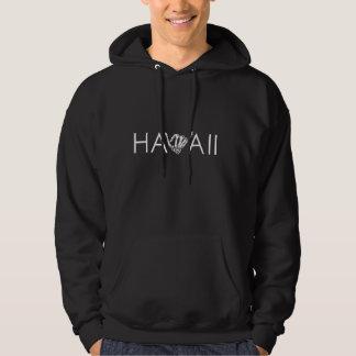 Hawaii Skeleton Shaka - Black & White Hoodie