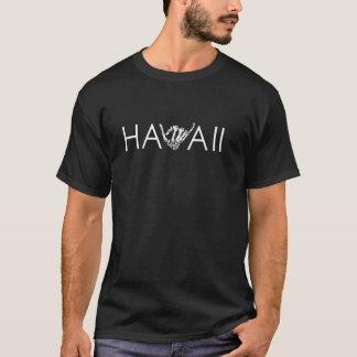Hawaii Skeleton Shaka - Black & White T-Shirt