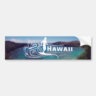 Hawaii Stand Up Paddle and Hanauma Bay Bumper Sticker