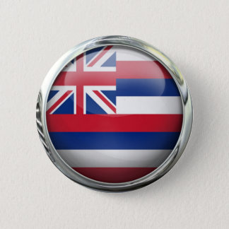 Hawaii State Flag Round Glass Ball 6 Cm Round Badge
