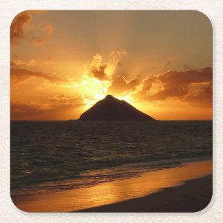 Hawaii sunrise at the beach coaster