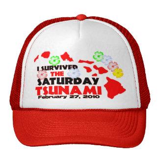 Hawaii Tsunami Survivor Mesh Hat