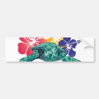Hawaii Turtle Bumper Sticker