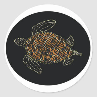 Hawaii Turtle Classic Round Sticker