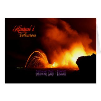 Hawai'i Volcanoes Vintage Style Card