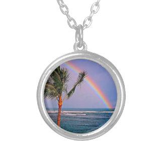 Hawaiian Aloha Style Silver Plated Necklace