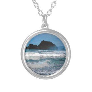 Hawaiian Coast Blue Sky Silver Plated Necklace