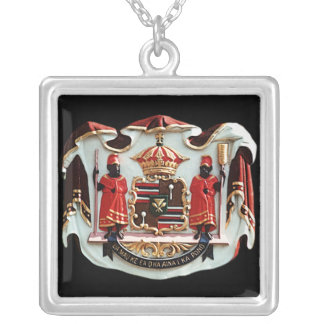 Hawaiian Coat of Arms Silver Plated Necklace