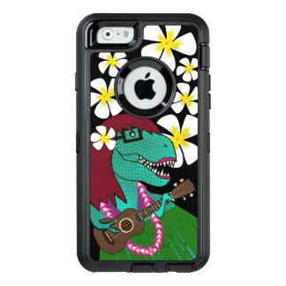 Hawaiian Dinosaur Ukulele OtterBox Defender iPhone Case