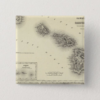 Hawaiian Group Or Sandwich Islands 15 Cm Square Badge