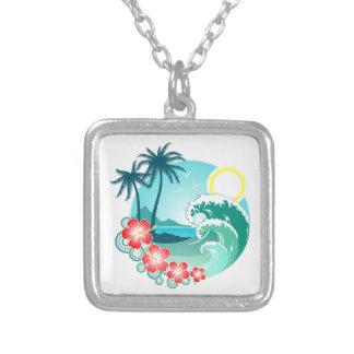Hawaiian Island 2 Silver Plated Necklace