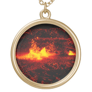 Hawaiian Lava Flow Gold Plated Necklace