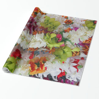 Hawaiian Lei Stand Wrapping Paper