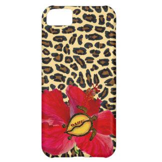 Hawaiian Oahu Honu and Golden Leopard Print iPhone 5C Case