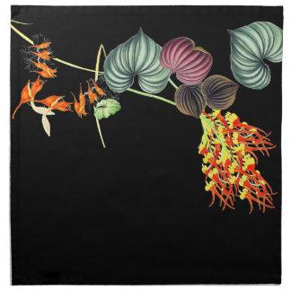 Hawaiian Orchid Floral Tropical Leaf Cloth Napkins