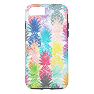 Hawaiian Pineapple Pattern Tropical Watercolor Case-Mate iPhone Case