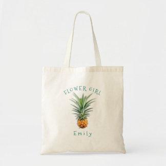 Hawaiian Pineapple Personalised Flower Girl Bag
