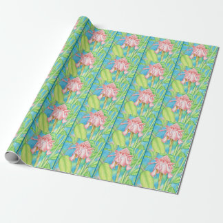 Hawaiian Pink Ginger Wrapping Paper
