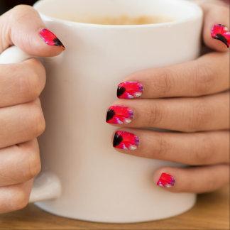 Hawaiian red Hibiscus Nails Minx Nail Art