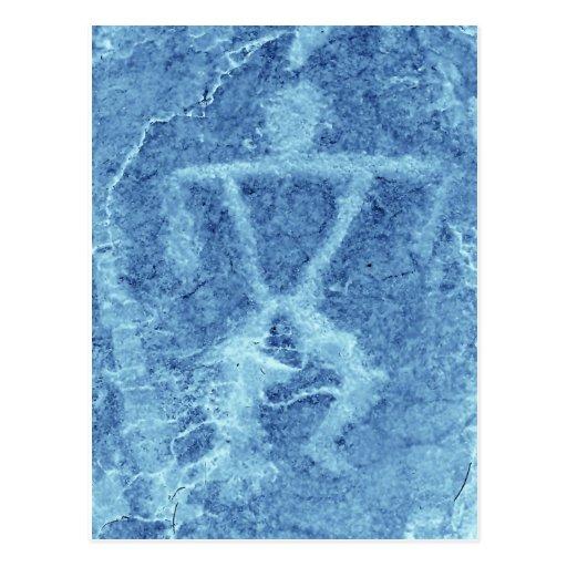 Hawaiian Rock Carving Post Card
