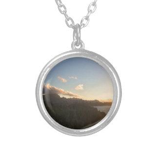 Hawaiian Sunrise Silver Plated Necklace