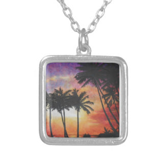 """""""Hawaiian Sunset"""" Silver Plated Necklace"""