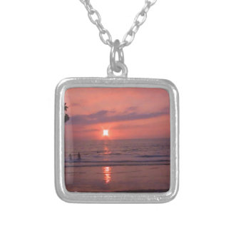 Hawaiian Sunset Silver Plated Necklace