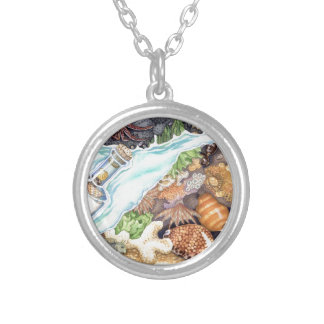 Hawaiian Tide Pool Silver Plated Necklace