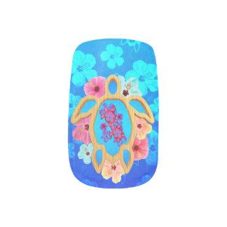 Hawaiian Tropical Honu Minx Nail Art