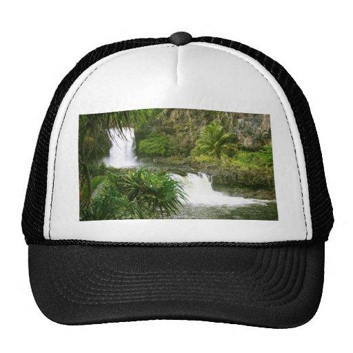 Hawaiian Waterfall 2 tiered Trucker Hats