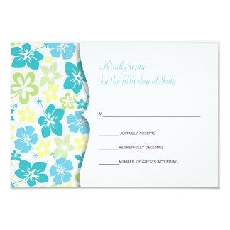 Hawaiian Wedding RSVP response card