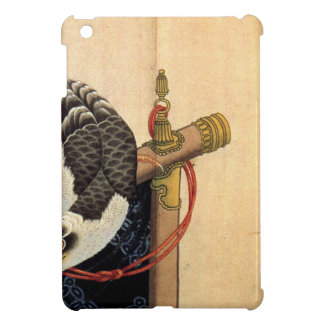 Hawk on a ceremonial stand by Katsushika Hokusai iPad Mini Cover