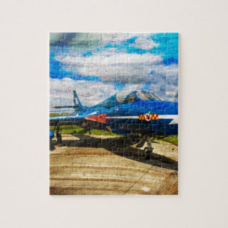 Hawker Hunter T7 aircraft on wood Jigsaw Puzzle
