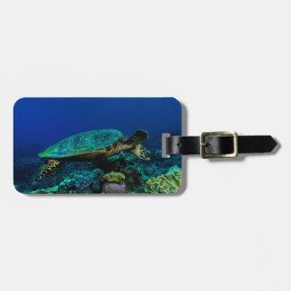 Hawksbill Sea Turtle Luggage Tag