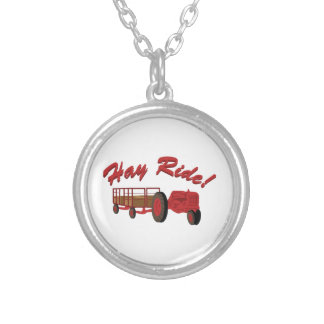 Hay Ride Round Pendant Necklace