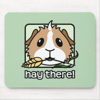 Hay There! (Guinea Pig) Mouse Pad